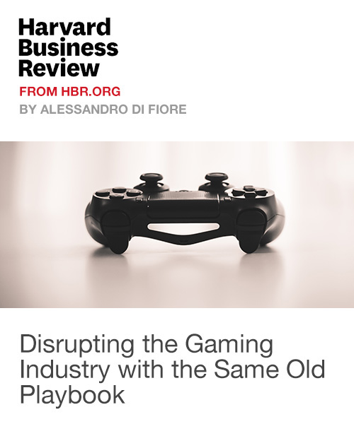 Disrupting the Gaming Industry with the Same Old Playbook