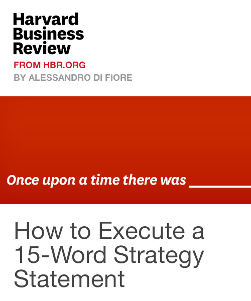 How to Execute a 15-Word Strategy Statement