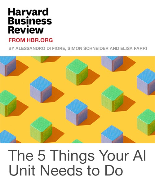 The 5 Things Your AI Unit Needs to Do