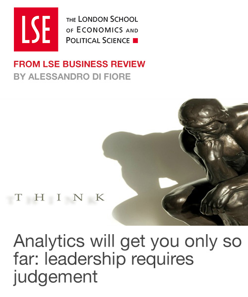 Analytics will get you only so far: leadership requires judgement