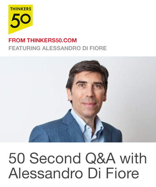 50 Second Q&A with Alessandro Di Fiore