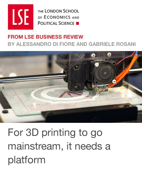 For 3D printing to go mainstream, it needs a platform