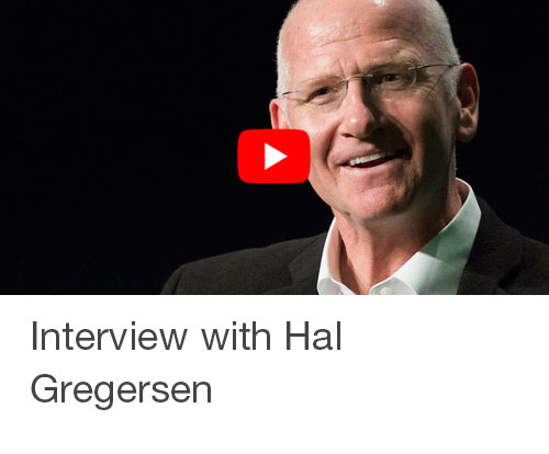 Interview with Hal Gregersen