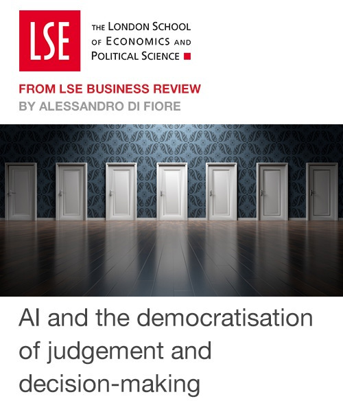 AI and the democratisation of judgement and decision-making