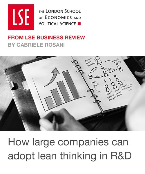 """""""How large companies can adopt lean thinking in research and development  """""""