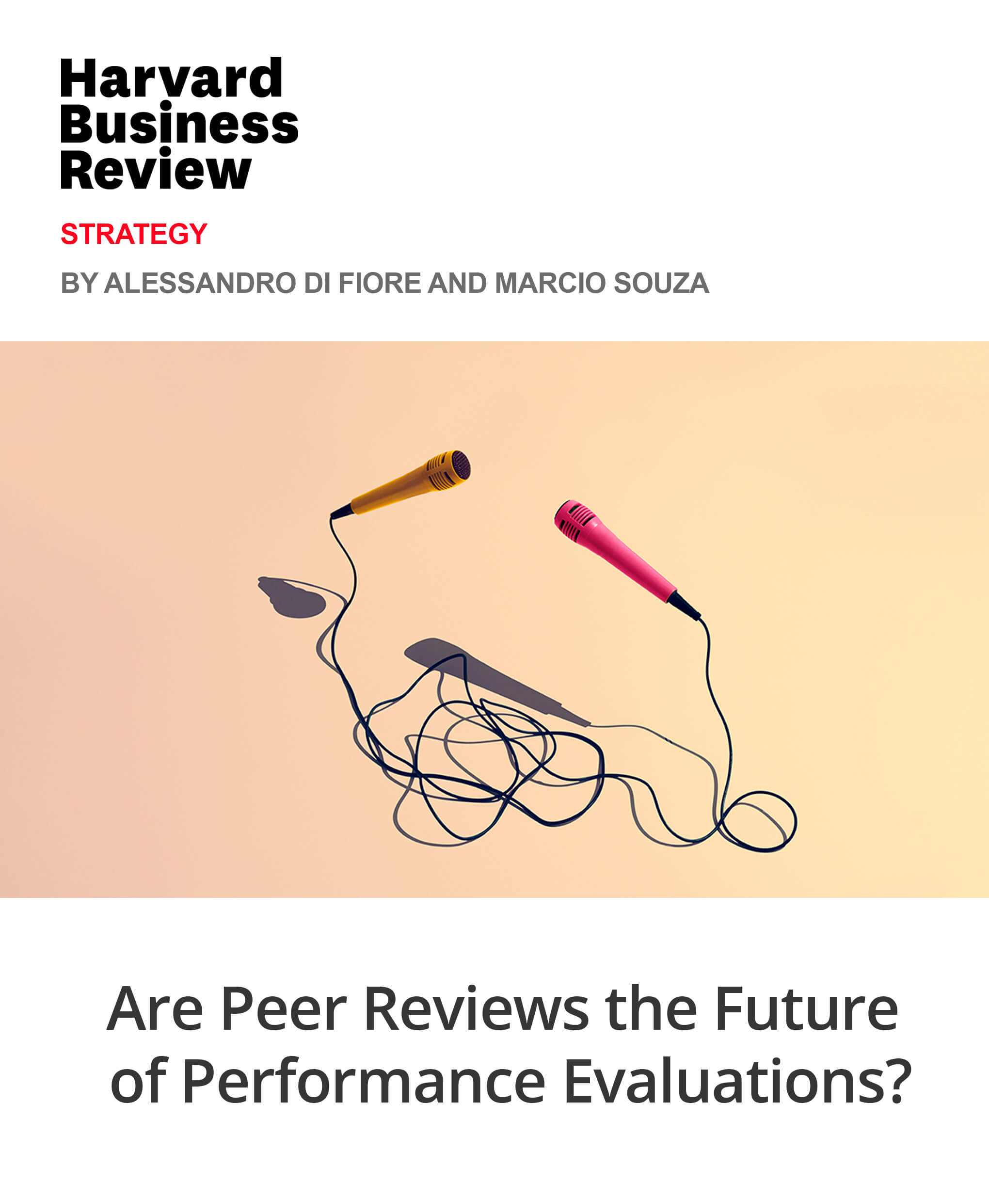 Are Peer Reviews the Future of Perfomance Evaluations